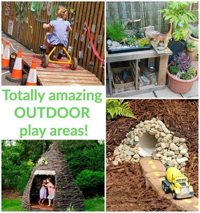 A collection of 56 amazing outdoor play spaces to inspire your backyard or nature classroom play!  http://theimaginationtree.com/2016/05/inspiring-outdoor-play-spaces-kids.html